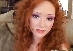 Redhead Audrey Hollander gangbang sex