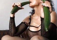 Michaela O Brilliant - Cucumber Dildos