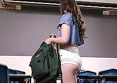Casey Calvert and Mona Wales get it off in the classroom
