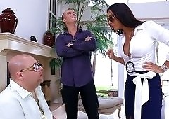 Rich wife Rachel Starr cheats with a big dick