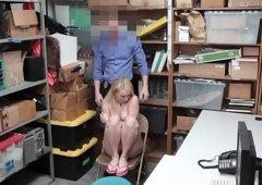 Petty theft Carmen Callaway swallows cum after a backroom fuck