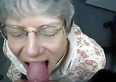 Granny eat my cum