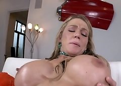 Oiling the ass makes it easy for Nikki Sexx to get butt fucked