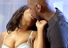 Hot black babe Daya Knight makes a dick disappear in her pussy