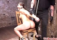 Bootylicious babe flogged and dominated