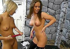 Nice white teen big tits