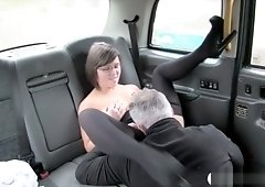 Sexy Passenger Finger Fucks And Screwed In The Backseat