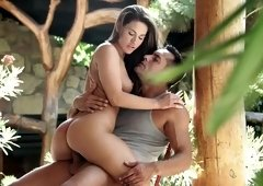 Athina Love making love & getting her feet & toes jizzed outdoors