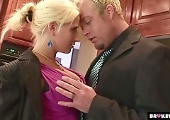 Yummy blonde Sammie Spades is sucking a dick before a crazy anal sex