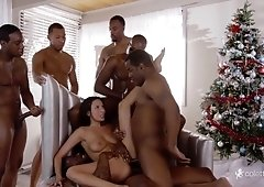 Anissa Kate Interracial Gangbang