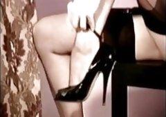 Dita von Teese in  Lingerie, Corset, Nylon & High-Heels