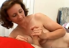 Lusty housewife of my neighbor is actually good at sucking my dick