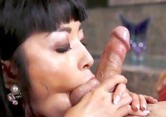 Marica Hase throats like a goddess then swallows