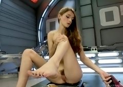Adorable Willow Hayes making her dirty kinky dreams come true
