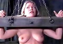 Dia Zerva destroyed on the bondage device BDSM fetish porn