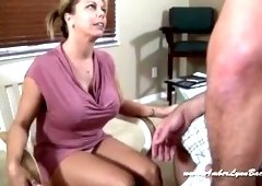 Handjob porn video featuring Amber Lynn Bach and Amber Lynn