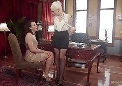 Hardcore lesbian fetish sex with nympho Lorelei Lee