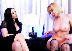 Rachel Starr lets Dillion Harper play with her strap-on