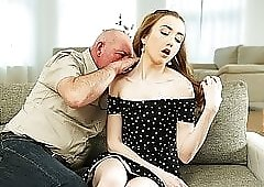 DADDY4K. Tricky dad seduces and fucks cutie while son left..
