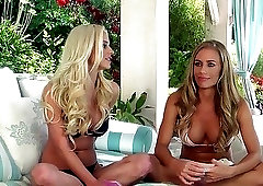 Nice pornstar interview with two outstanding sex dolls