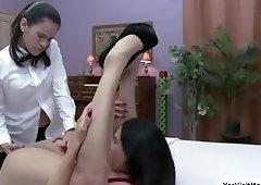 Hot busty chick Missy Martinez gets pussy fucked by Vanessa Veracruz huge toy