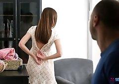 Graceful babe Hazel Dew is making love with her new boyfriend