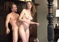 Ashley Lane gets pussy fucked hard and filled with man jizz