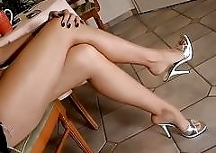 Hot Woman Shoe Play