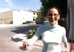 Caroline Pierce showing her sexy ass outdoors