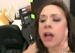Cute dusky Chanel Preston making an amazing foot feish video at work