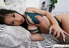 Asian raven haired Jade Kush is actually made for riding stiff dick