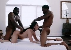 Interracial threesome Double Black