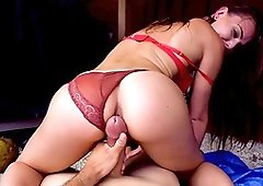 Slim girl gets cash to spin dick down her vag