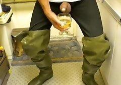 Nlboots cum long johns rubber boots