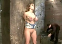 Good-looking Trina Michaels performing in BDSM action