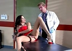 Horny woman fucked her handsome doctor
