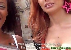 Spanish pickedup amateurs cumsprayed in mouth