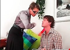 Tutor in satin blouse is abusive towards student