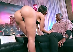 AStounding Lela Star takes a big black dick from behind