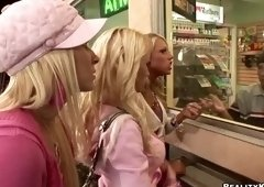 Blonde sex video featuring Madison Scott, Madison Ivy and Cara