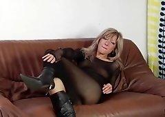 Sexy Blond Streaked Olga is a Smoking Hot Fuck!