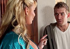 Lucky man called Danny gives the blonde MILF a fine drilling