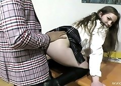 College bully Mini Vanilli is having crazy quickie with her perverted teacher