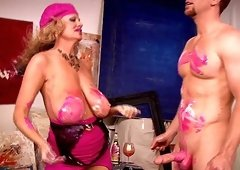 Messy sex session with alluring babe Kelly Madison