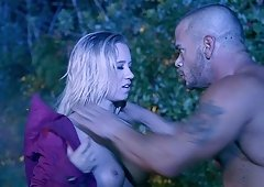 Outdoor fucking game with lovely blonde angel Bailey Brooke