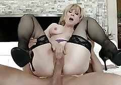 Nina Hartley the goddess Queen Legend fucks a young Boy
