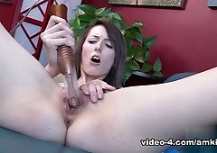 Mellow flat chested Amara Romani play with her cunt
