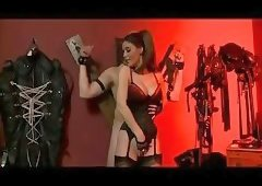 Mistress Plays With Her Helpless Slave