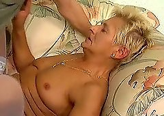 Granny Liz screaming from how a dick feels deep in her pussy