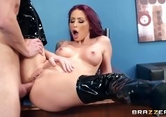 Purple-Haired MILF Gets Sodomized On The Office Table